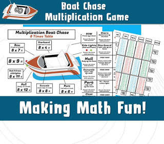 Kids Printable Multiplication Game Board Game