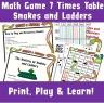 Printable Kids Multiplication Maths Game